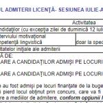 CALENDARUL ADMITERII: Licență și Masterat 2021